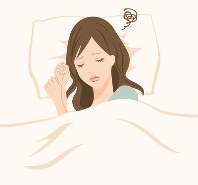 不眠女性イラスト