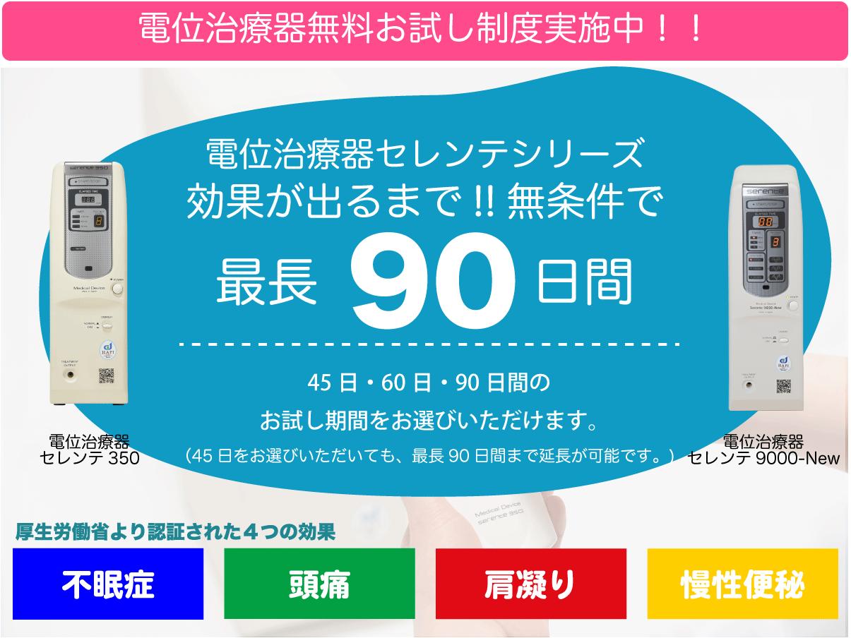 電位治療器セレンテ350・セレンテ 9000-New